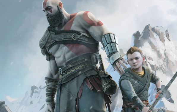 Картинка kratos, sony, loki, ps4, god of war 4, atreus