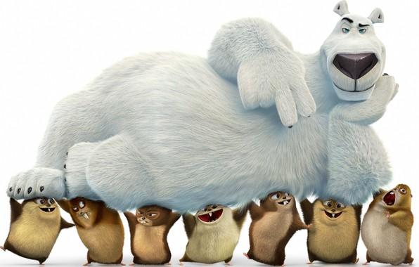 Фото обои bear, animated movie animated film, Norm of the North, anima, kuma, Norm