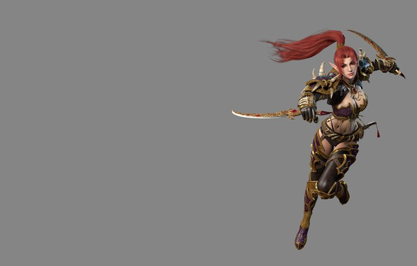 Картинка оружие, эльф, игра, фэнтези, арт, нож, ассасин, дизайн костюма, yonglin yao