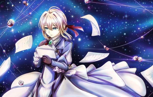 Картинка девушка, аниме, арт, Violet Evergarden