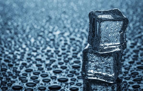 Картинка лед, капли, кубики