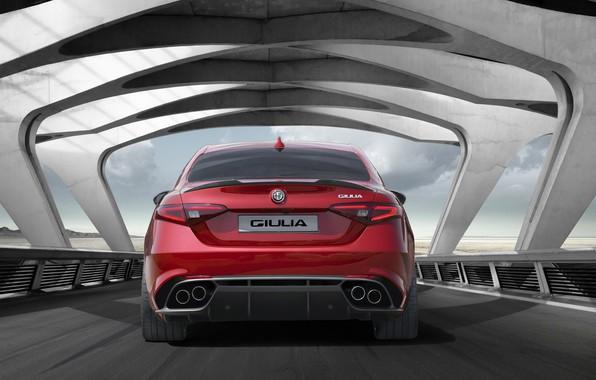 Фото обои Car, Sport, Red, Giulia, Alfa, Alfa Romeo, Italian