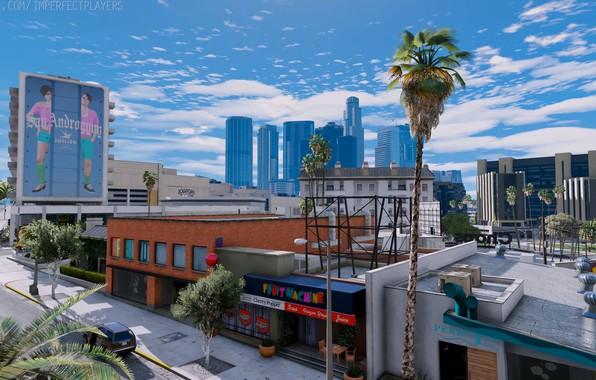 Картинка GTA V, GTA 5, CITY, GAME, ULTRA REALISTIC GRAPHICS