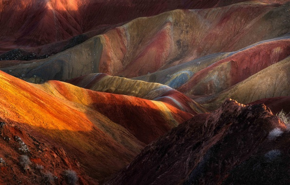 Картинка горы, China, цвет, Китай, порода