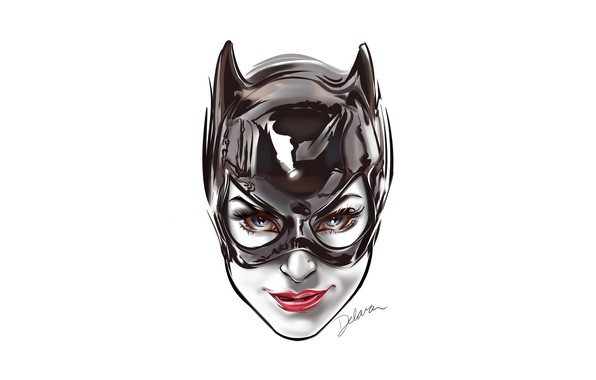 Картинка fantasy, Batman, minimalism, blue eyes, comics, face, digital art, artwork, mask, superhero, fantasy art, DC …