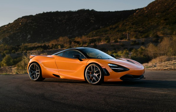 Картинка McLaren, Dark, with, Clear, Stone, HRE, R101, 720S