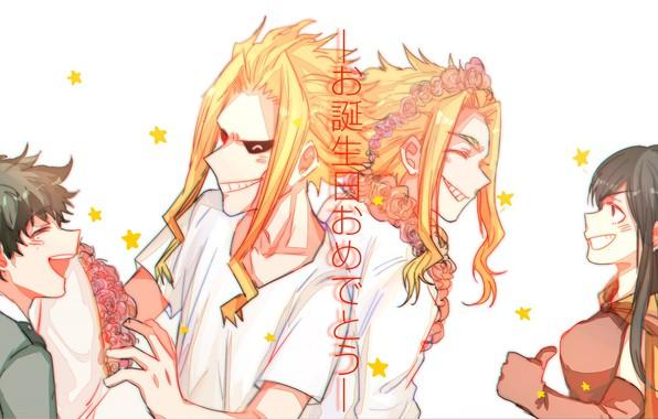 Картинка Boku no Hero Academia, All Might, Shimura Nana, Midoriya Izuku