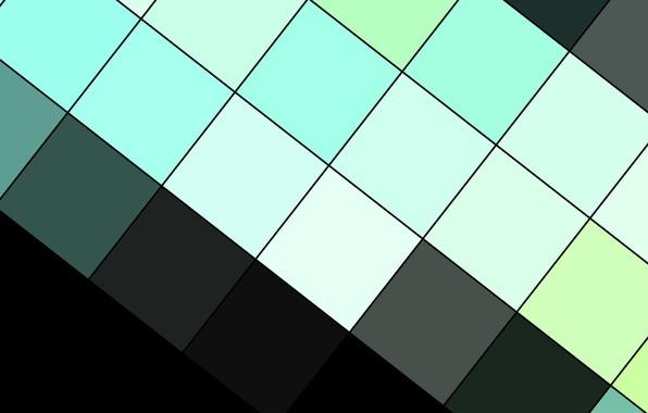 Картинка линии, абстракция, черный, квадраты, геометрия, design, modern, material, электрик, аквамариновый, fhd-wallpaper-1920x1200