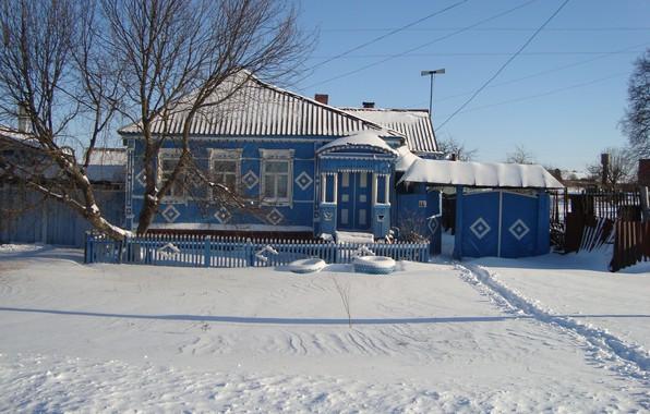 Фото обои зима, в ожидании чуда, наш домик