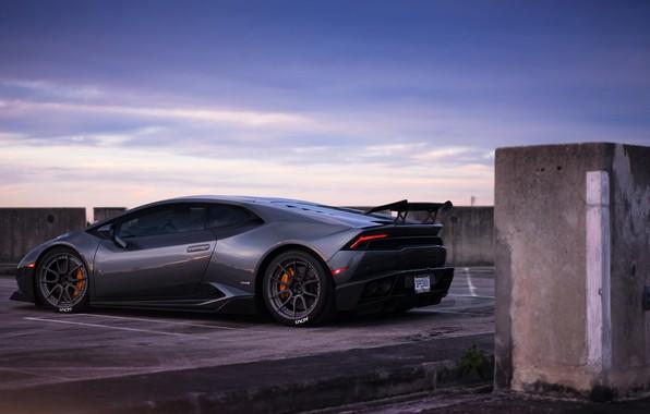 Картинка вечер, Lamborghini, evening, Huracan, Lamborghini Huracan