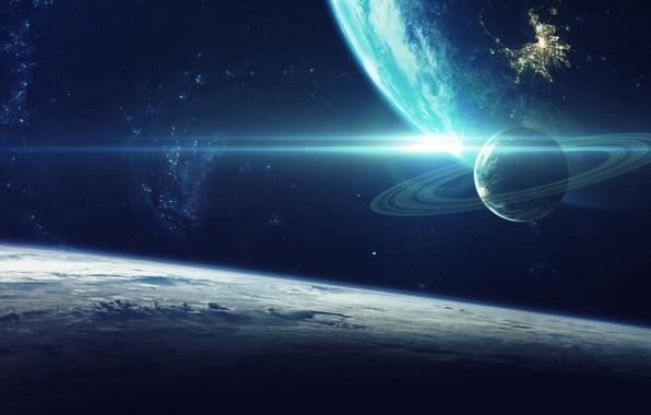Картинка planet, galaxy, sci fi