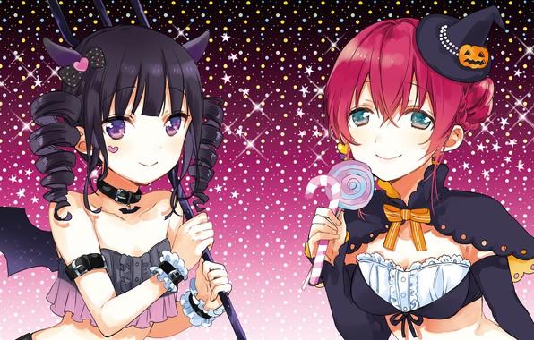 Картинка девочки, halloween, костюмы, хеллоуин, blend s, nakayama miyuki, amano miu, sakuranomiya maika