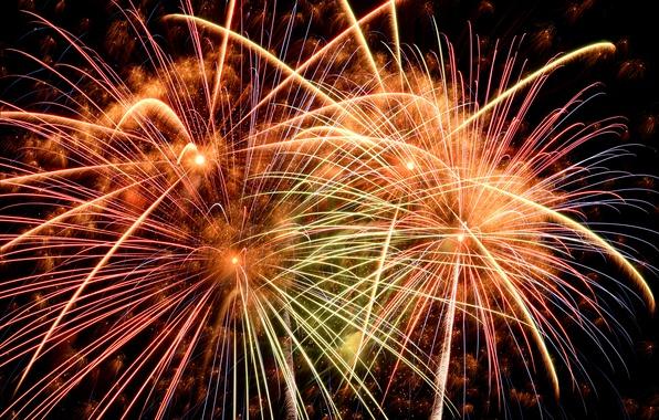 Картинка салют, colorful, Новый Год, фейерверк, new year, happy, night, fireworks, 2017, holiday celebration