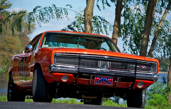 Картинка 1969, Dodge, Orange, Charger, Muscle car, General Lee, The Dukes of Hazzard