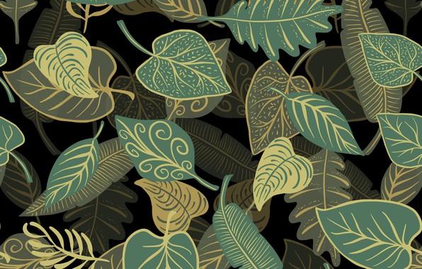 Картинка листья, фон, текстура