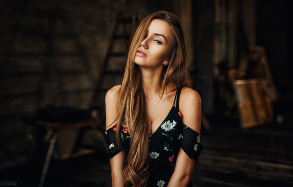 Картинка взгляд, девушка, Valya, Валя, Evgeny Freyer, фотогораф