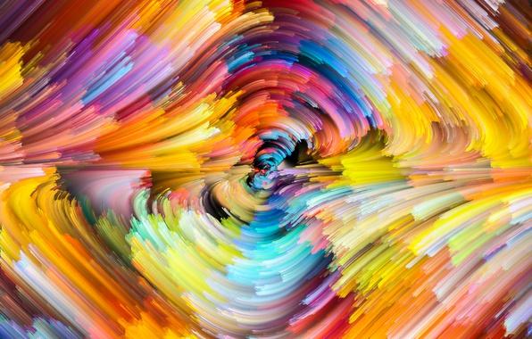Картинка colors, colorful, abstract, rainbow, splash, painting
