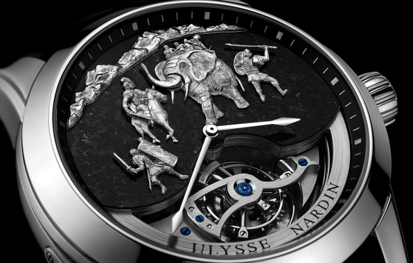 Фото обои время, часы, watch, Ulysse Nardin, хронометр, Улисс Нардан, Hannibal Minute Repeater
