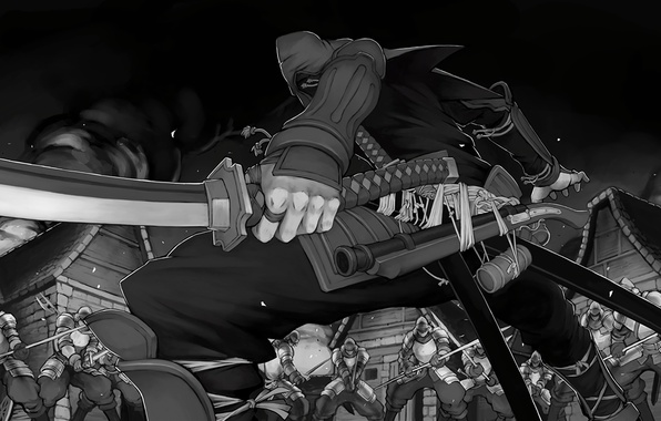 Картинка wallpaper, fire, battlefield, red, flame, sword, gun, blood, game, armor, smoke, weapon, war, anime, katana, …