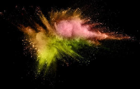 Картинка брызги, фон, краски, черный, colors, colorful, abstract, splash