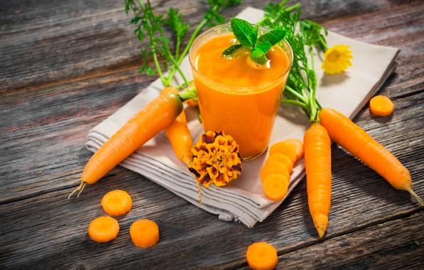 Картинка стакан, сок, напиток, фреш, морковный
