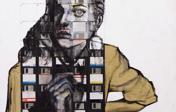 Картинка девушка, Nick Gentry, Сюрреализм, VERBATIM
