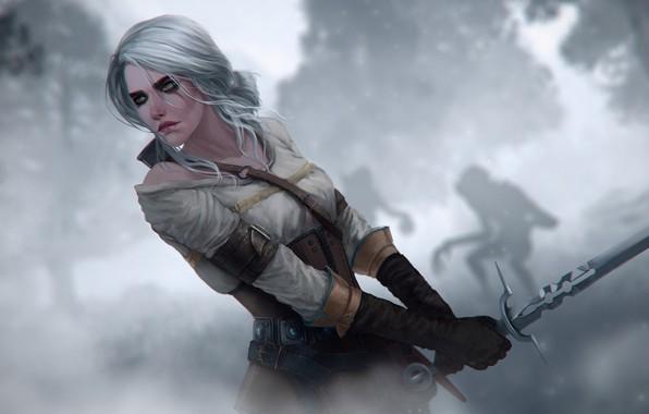 Картинка witcher, witcher 3, ciri, Witcher 3 Wild Hunt, cirilla