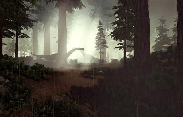 Картинка game, forest, rain, ARK Survival Evolved