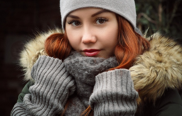 зимняя девушка фотоработы