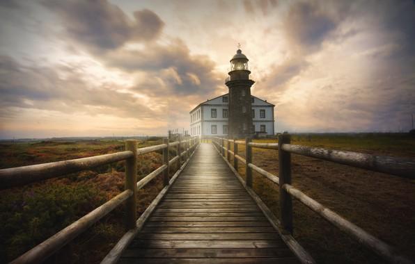 Картинка sky, lighthouse, Avilés, Faro cabo de Peñas