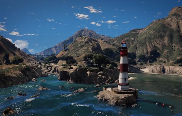 Картинка Grand Theft Auto V, GTA V, El Gordo Lighthouse