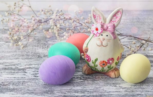 Картинка яйца, кролик, Пасха