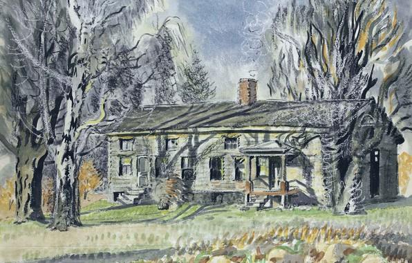 Картинка Charles Ephraim Burchfield, North of Wyoming Village, Long House