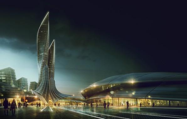 Фото обои архитектура, здания, Eye Level Visualization, город, Pedro Fernandes