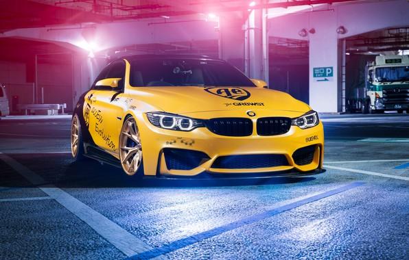 Картинка BMW, Light, Black, Yellow, F82, Sight, LED