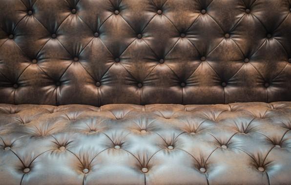 Картинка фон, диван, текстура, кожа, texture, brown, background, chester, leather, обивка, sofa, честер, upholstery