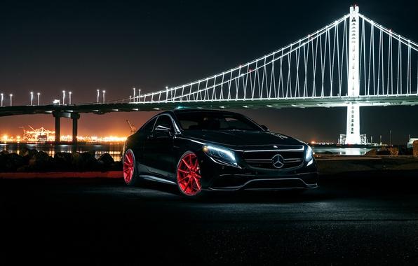 Картинка Mercedes-Benz, Front, AMG, Coupe, Wheels, Avant, S63, Garde