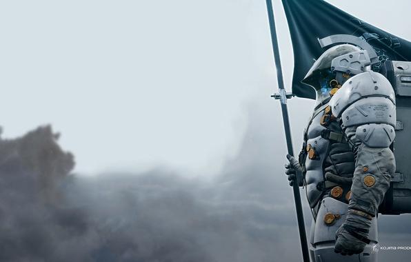 Картинка Скафандр, Флаг, Логотип, Kojima Productions, Hideo Kojima, Хидео Кодзима, Death Stranding