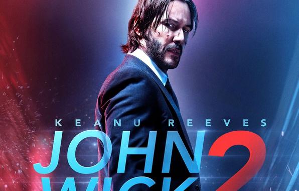 Картинка cinema, blood, man, movie, film, Keanu Reeves, powerful, strong, John Wick, John Wick 2, John …
