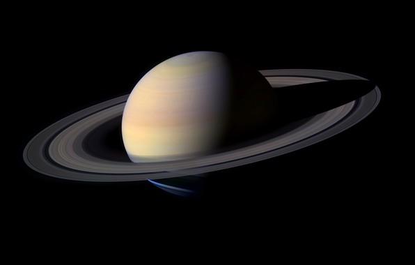 Картинка планета, кольца, Сатурн, Солнечная Система