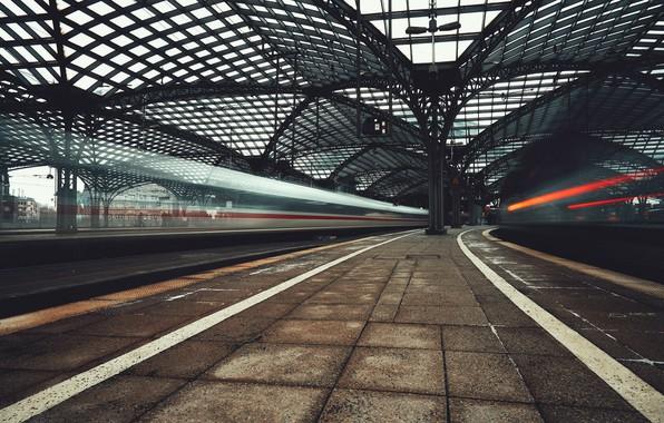 Картинка город, станция, железная дорога