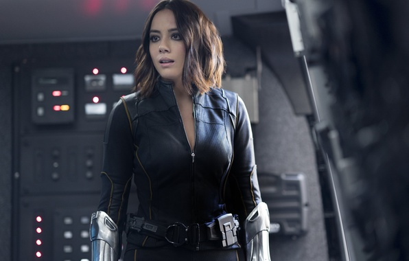 Картинка girl, spy, brunette, agent, uniform, seifuku, S.H.I.E.L.D., Chloe Bennet, tv series, season 4, SHIELD, Daisy …