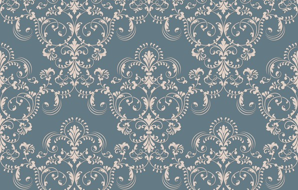 Картинка обои, vector, текстура, texture, винтаж, background, pattern, ornament, seamless, damask