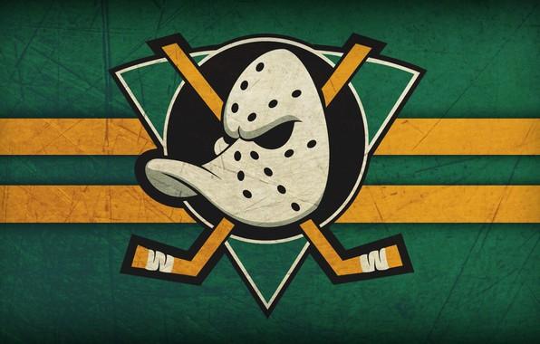 Картинка утка, Anaheim Ducks, Анахайм, Anaheim, могучие утки, клюшки, хоккейная маска, маска вратаря, Майти Дакс, Anaheim …