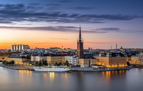 Фото обои Стокгольм, Швеция, Sweden, Old Town, Stockholm