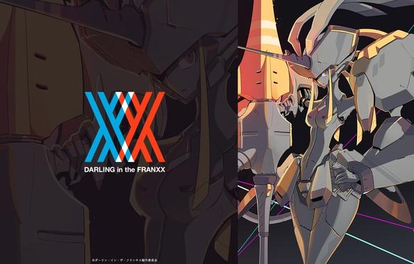 Картинка девушка, робот, аниме, арт, darling in the frankxx