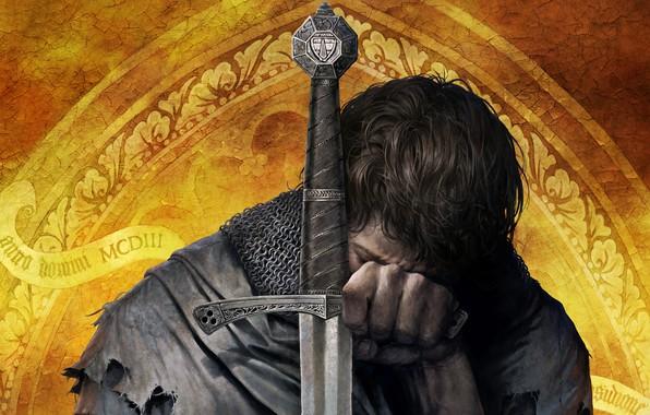 Картинка крупный план, игра, воин, арт, рыцарь, средневековье, action, RPG, wallpaper., ролевая, доспехи меч, knight in …