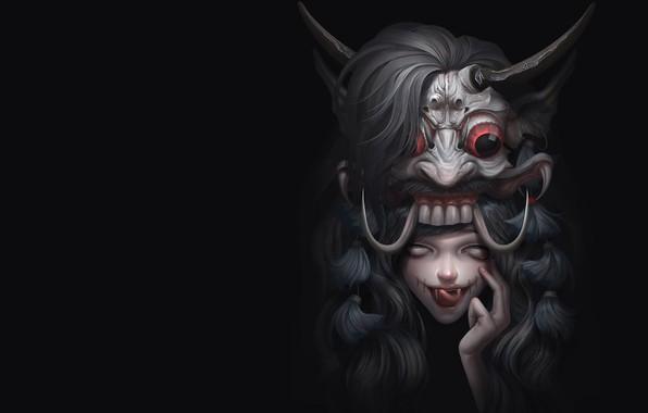 Картинка фэнтези, арт, Illustrator, Mix demon, Asep Ariyanto