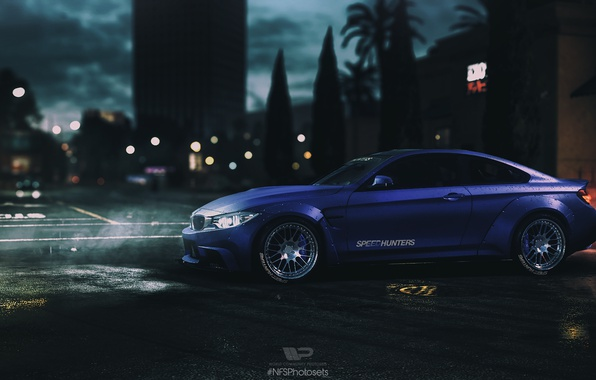 Картинка Ночь, BMW, NFS, Ночной город, NFSPhotosets, Need For Speed 2015