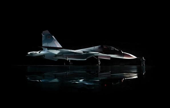 Картинка star, fighter, aircraft, military, man, Sukhoi, aviation, air force, pilot, red star, hunter, Су-30СМ, Sukhoi …
